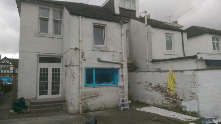 Exterior house painting in Cardonald