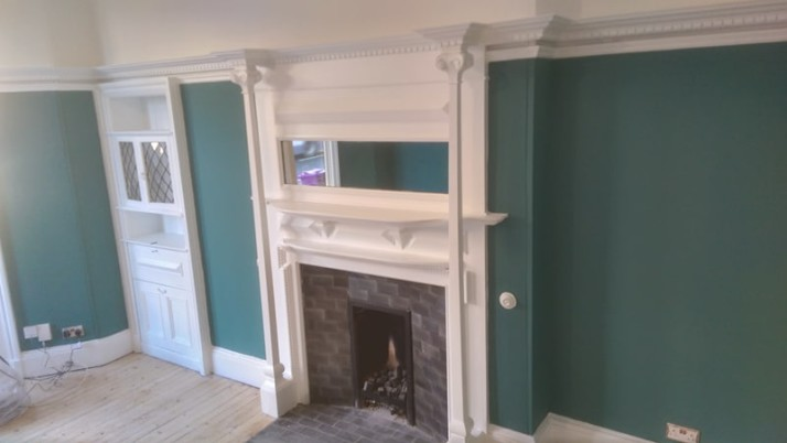Interior painting in West End of Glasgow